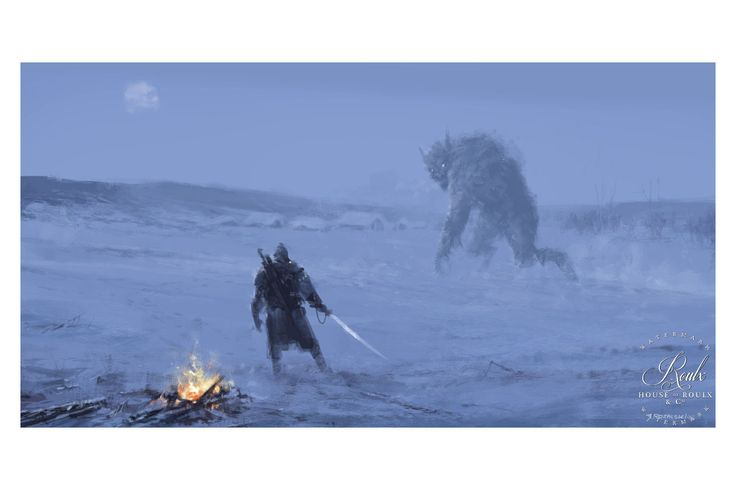 """Silent Night • Illustrated by Jakub """"Mr. Werewolf"""" Rozalski • Archival pigment print • Printed on Hahnemühle Fine Art Baryta 325 GSM fiber paper • Varying sizes available Open edition House of Roulx b"""
