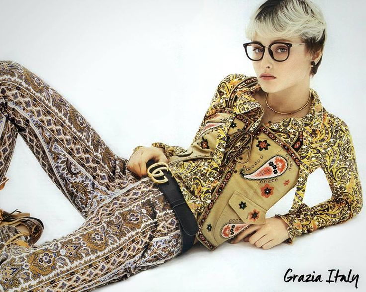 A wonderful total look in Paisley mania. As seen in Grazia.