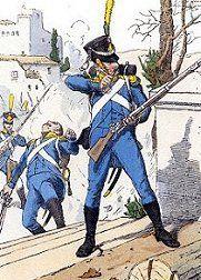 Voltigeurs of Isenburg  Regiment in 1808.