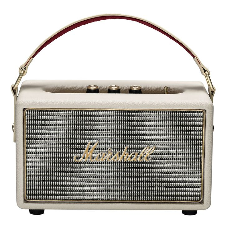 Stockwell Travel Speaker from Marshall. Portable speakers feature dual 2.25 woofers and class-D amplifiers, features that make it one of the loudest portable speakers available in its category. Protective flip cover and Bluetooth 4.0 connectivity. Speake