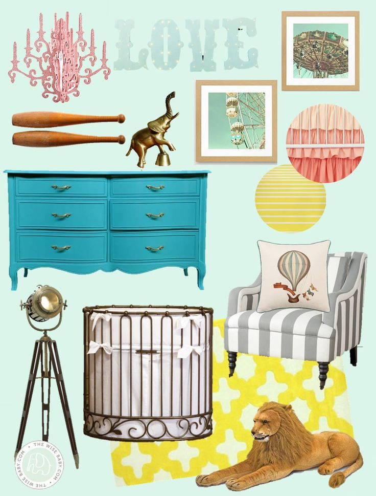 Vintage carnival nursery inspiration (pastel and beautiful!)