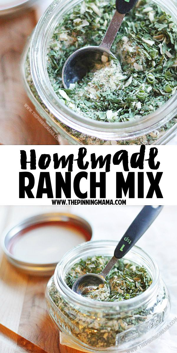 Homemade Ranch mix recipe - So good!  I use it as a marinade, dip, seasoning and put it on anything and everything!