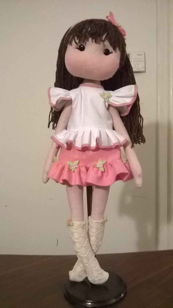 felt doll rose spring
