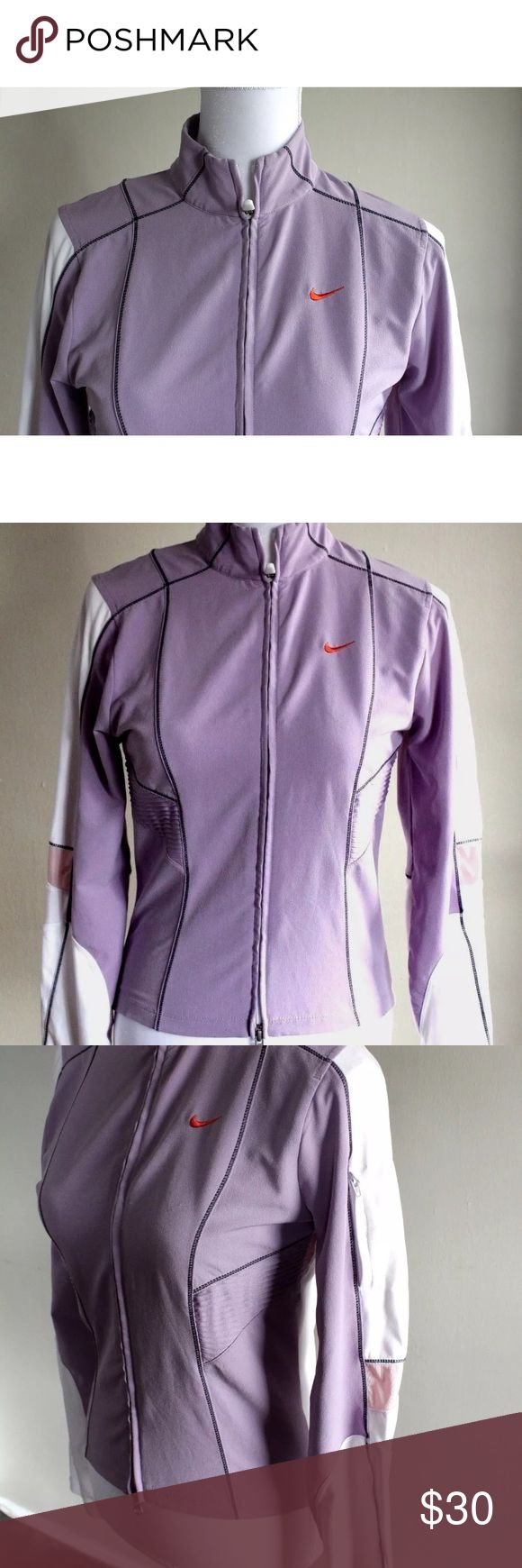 Nike Women's Activewear Full Zip Jacket Purple S Nike women's active apparel zip up jacket in a light purple, lavender color. In excellent condition. Size small. Nike Tops Sweatshirts & Hoodies