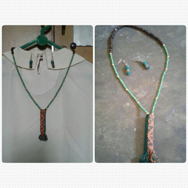 Kalung dan anting Tenunan Etnik Rp.50.000