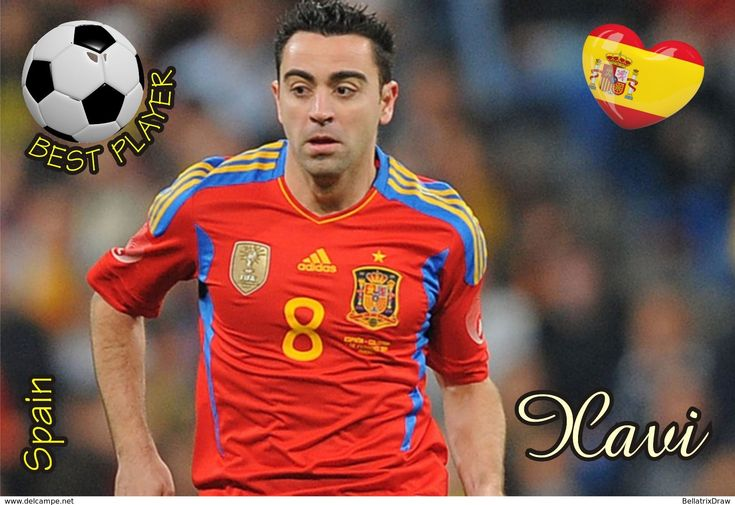 Postcard, REPRODUCTION, Best Player Serie, Xavi, Spain - Football