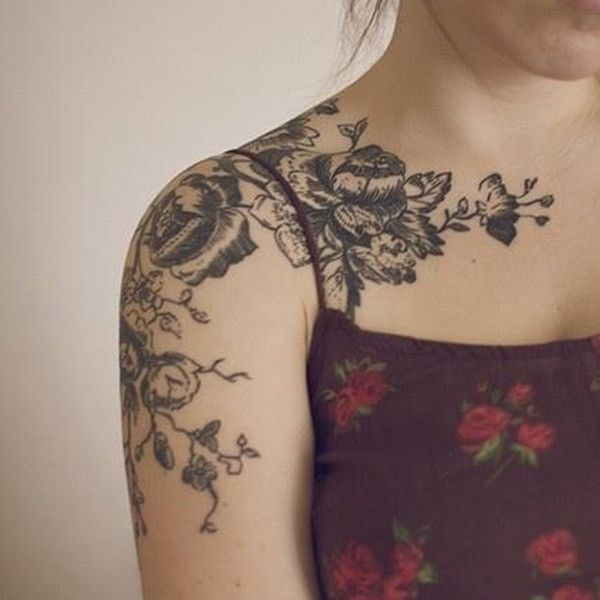 The 25+ Best Rose Shoulder Tattoos Ideas On Pinterest
