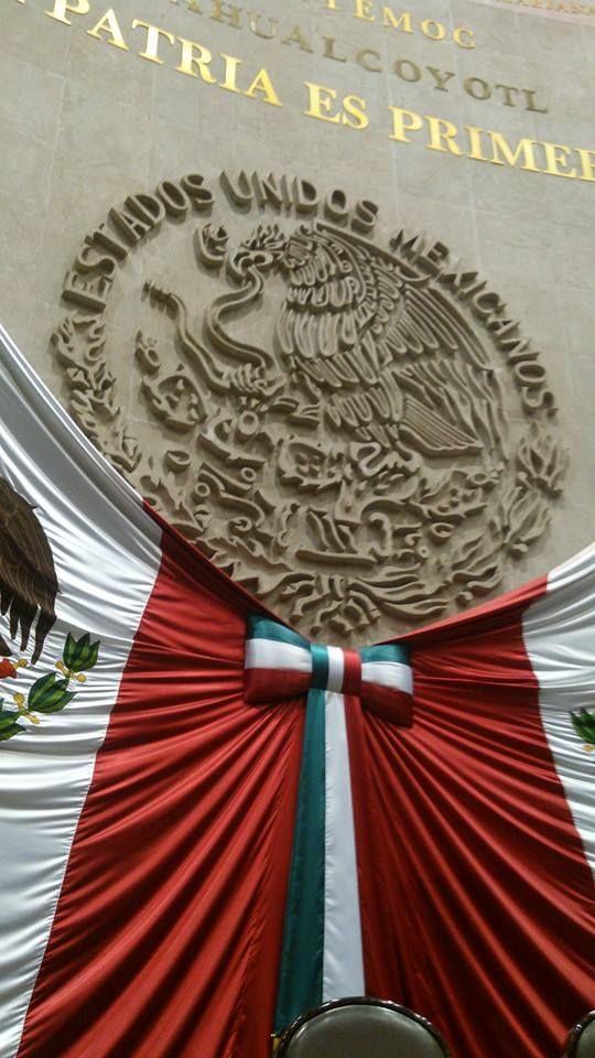 Escudo nacional de México, interior de la cámara de diputados