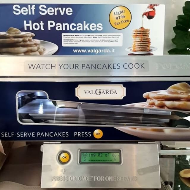 Self serve hot pancakes  now i have seen everything #pancakes #rimini