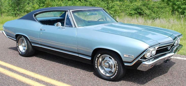 1968 Chevelle Ss 396 Island Teal Black Vinyl Top Cars