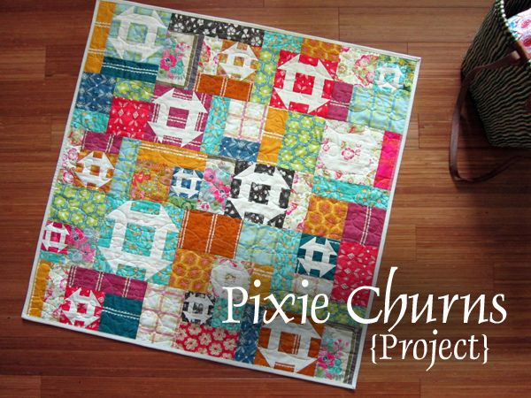 There's just something about scrappy churn dash quilts that make me feel all warm and fuzzy inside.