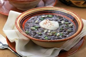 black bean soup recipe - David Bishop Inc/Photolibrary/Getty Images