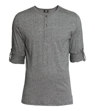 Henleyshirt | Grau | Herren | H&M DE