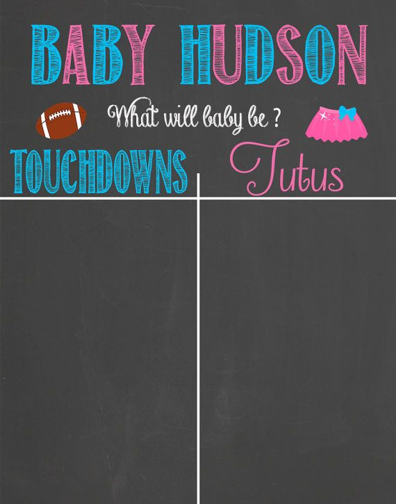 Touchdown or Tutu'sGender Prediction by LaLaExpressions on Etsy