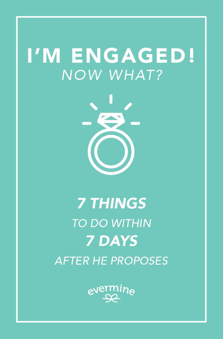 Time-sensitive tasks to do after he (or she) puts a ring on it!