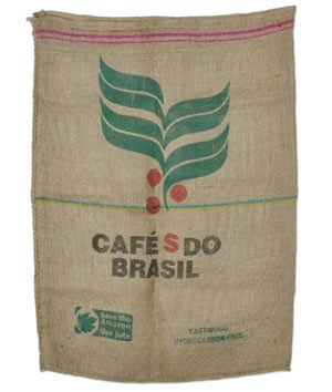 Used burlap coffee bags from Brazil