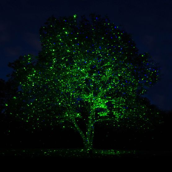 It's a whole new way to light up your yard this Christmas! Just point laser lights toward trees or  at your house front to create a show stopping holiday display!