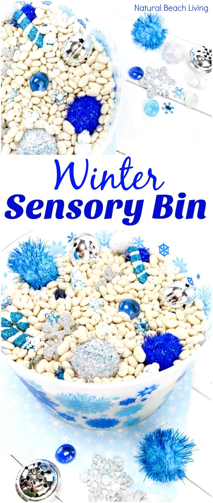 Easy Winter Sensory Bin for Toddlers and Preschoolers, Perfect for arctic and winter wonderland activities, Winter sensory table ideas, Winter sensory ideas, Snow sensory bin, Make it a Winter sensory tray, Snow Sensory Bin for Kindergarten, Exploring senses activities, Five in a Row, Five in a Row Vol. 1, Stopping by Woods on a Snowy Evening #sensorybin #sensoryplay #winteractivitiesforkids #fiveinarow