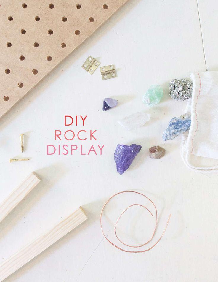 DIY Rock collection display                                                                                                                                                                                 More