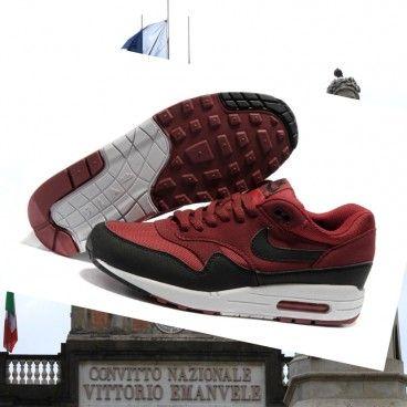 Donne Scarpe da corsa Nike Air Max 1 Premium rosso / bianco / nero a Sale Italia