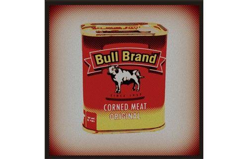 Bull Brand blocked vinyl sticker from Fantastick Wall Décor (South Africa)  #bullbrand #cornedbeef #southafrica