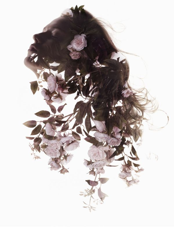 Beautiful, Double Exposure Shots That Blend Images Of Women And Flowers
