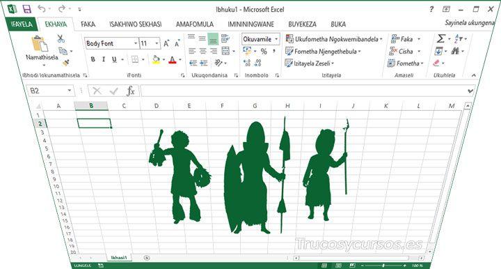 Microsoft Excel en isiZulu