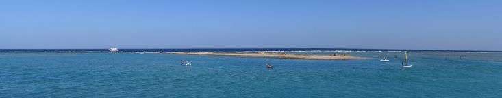 Egypt: Makadi: Coral island in front of the Royal Azur beach