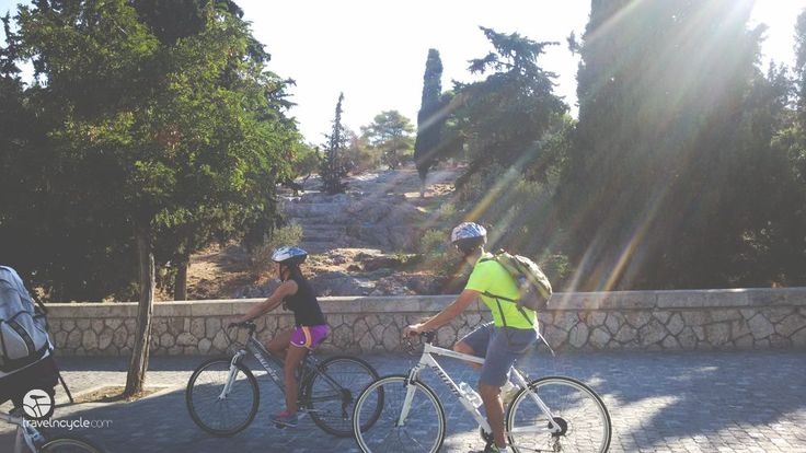 Mike and his wife choose to #celebrate their #honeymoon in#Athens and have a #romantic #bike tour with #travelncycle. #travel #Greece #cyclotourisme #discovergreece #VisitGreece #cyclingholiday #bike #ballistic #cycling #couple