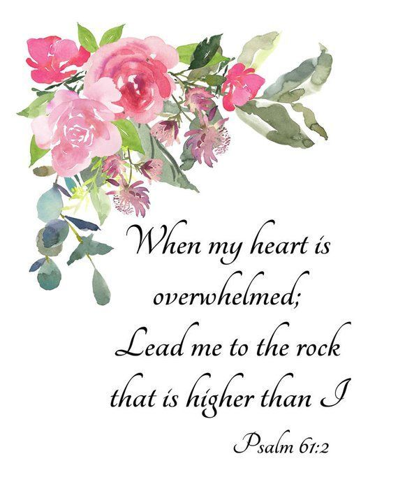 Psalm 61:2, instant download Bible art, lead me to the rock that is higher than I, religious print, inspirational quote, Christian wall art