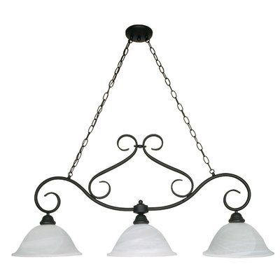 Fleur De Lis Living Claycomb 3-Light Shaded Chandelier