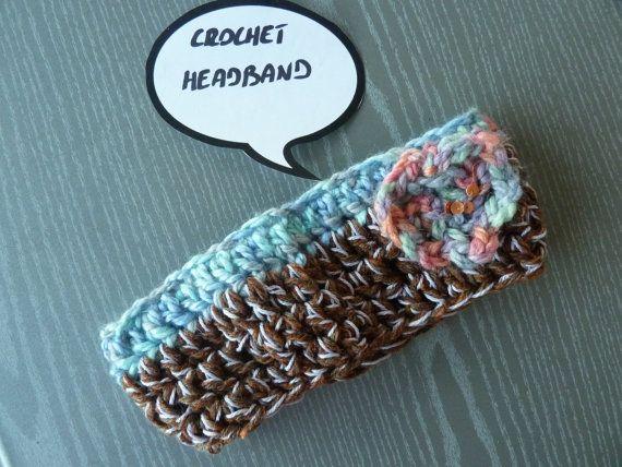 Fascia per testa in lana realizzata all'uncinetto 70 di Babaluccia, $9.00