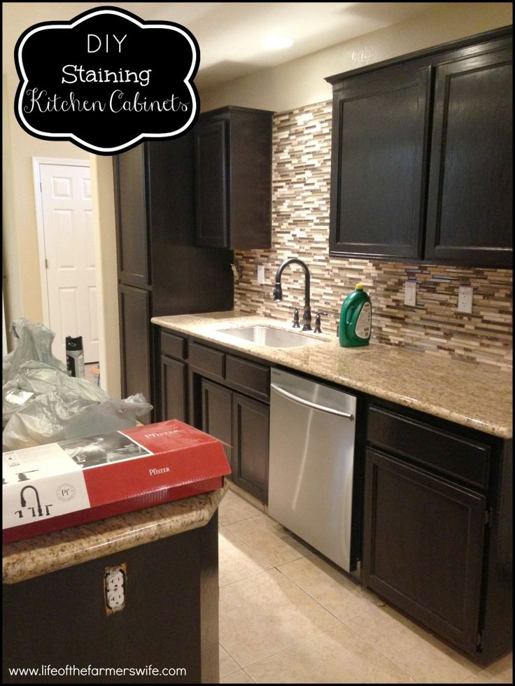 awesome Diy Staining Kitchen Cabinets #10: Step by step directions on how to gel stain cabinets. General Finishes Gel  Stain in