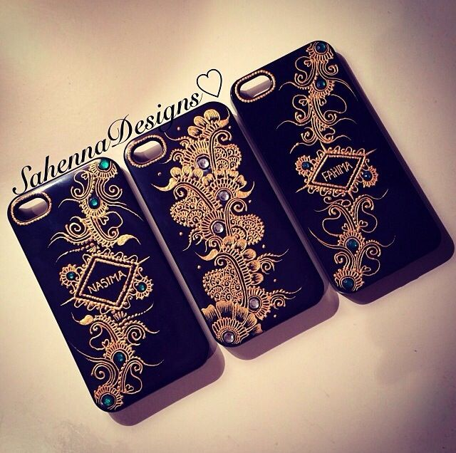 Bespoke Henna Design Phone Cases Available For A Wide