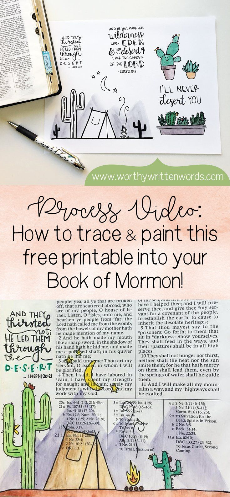 Process Video How To Use Watercolors In Book Of Mormon Book Of