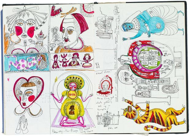 An illustration from Grayson Perry's Sketchbooks