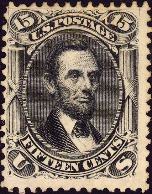 The very 1st Lincoln postage stamp - issue of 1866