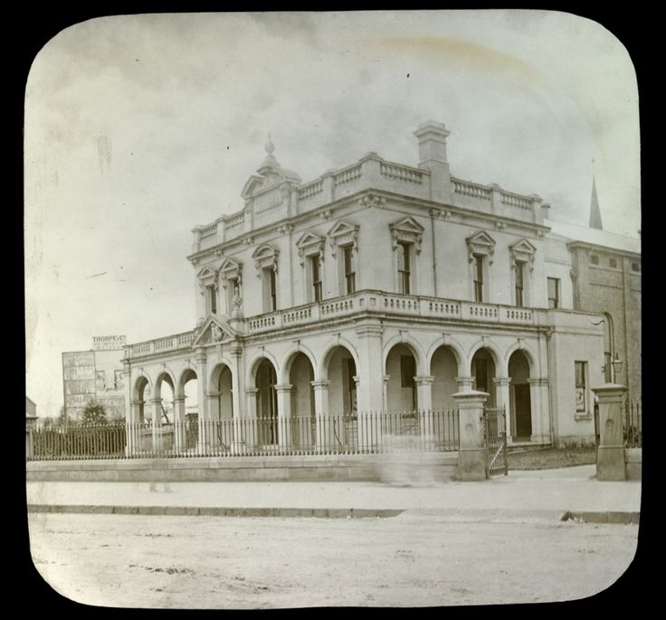 Parramatta Town Hall,Church St,Parramatta c1890.Photo from Dictionary of Sydney.A♥W