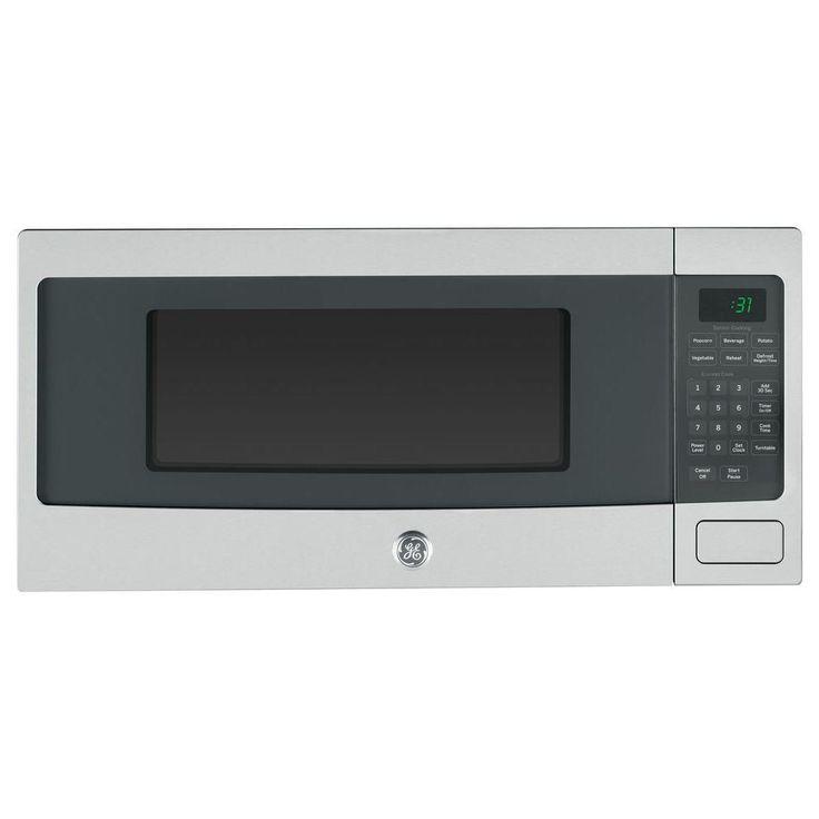 Ge Profile 1 1 Cu Ft Countertop Microwave Oven Pem31sfss Stainless Steel Countertops Countertop Microwave Stainless Steel Microwave