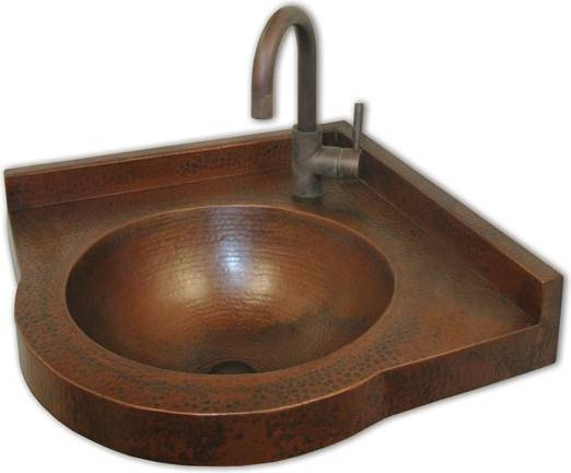 Copper Corner Sink : ... Trails Villa Corner Basin Wall Mount Bathroom Sink, Antique Fi