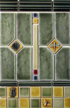 Craftsman Style - traditional - kitchen tile - portland - Pratt and Larson Ceramics
