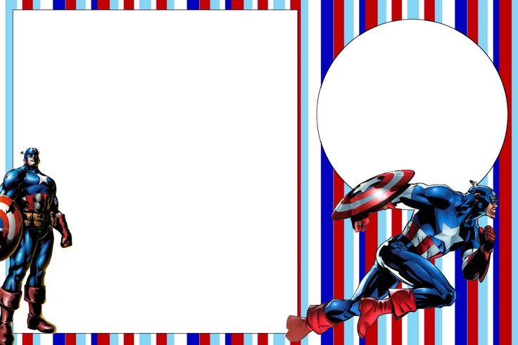 Captain America: Free Printable Invitations.