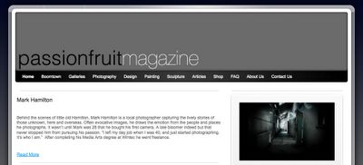 Curriculum Integration Project: Passionfruit Magazine website goes live - This blog follows the development of a project that integrates teaching and learning for a range of subject areas through the production of a Visual Culture magazine. A complimentary project, based around a student band has been added in 2013.
