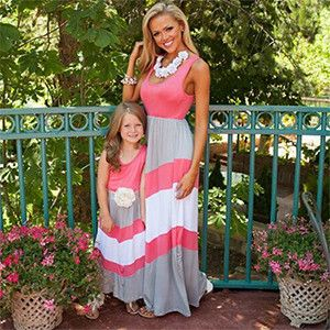 Mommy Daughter Matching Maxi Dress