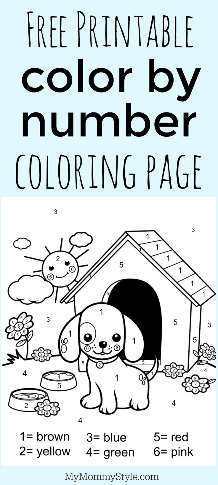 Happy summer holidays coloring pages - Color By Number Coloring Page Free Printable