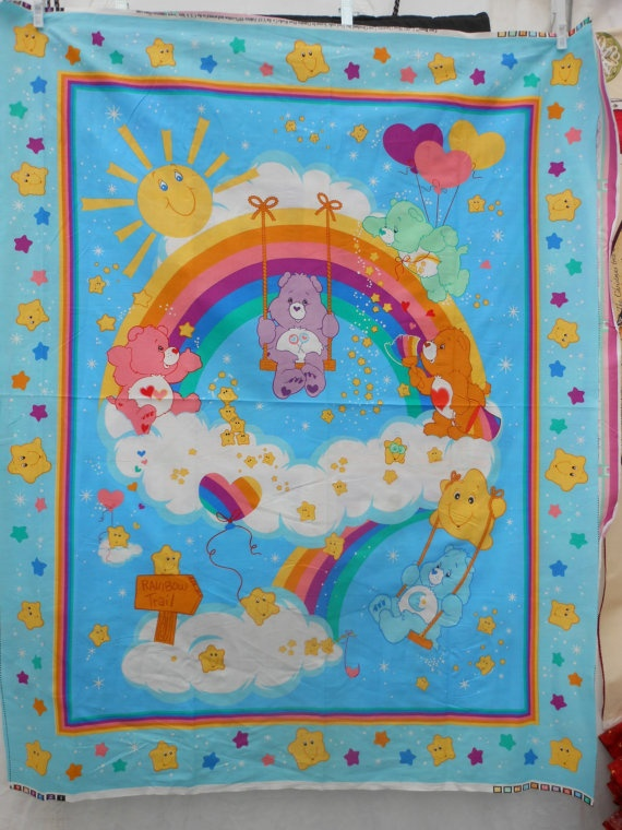 Care Bears Fabric Panel By Loriscountryfabrics On Etsy 5