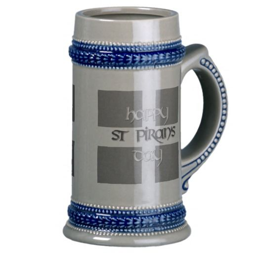 St Piran's Day with Cornish Flag Beer Stein