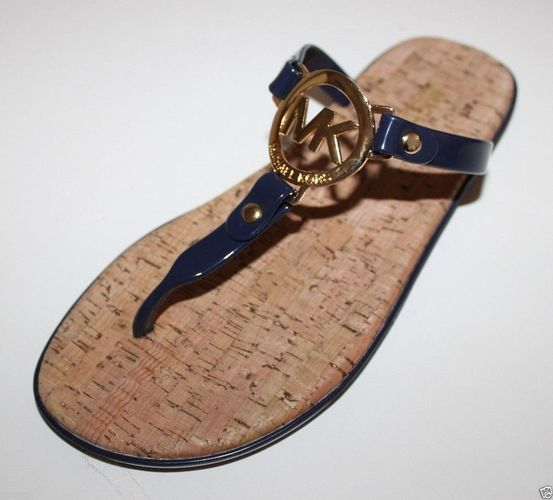 b611f1aa6ae Michael Kors NAVY Charm Jelly Flip Flop Flops Sandals. Need to be brown or  black not blue