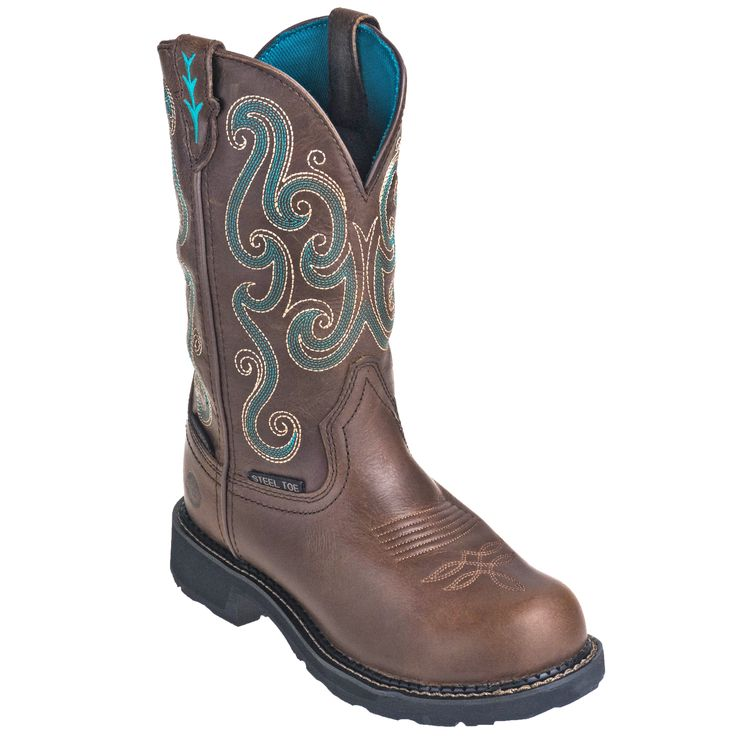 Justin Boots Women's WKL9991 Waterproof Steel Toe EH Tan Gypsy Pull-On Work Boots