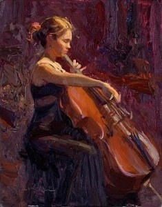 Playing the Cello; it touches the very depths of the soul. I miss playing so bad.